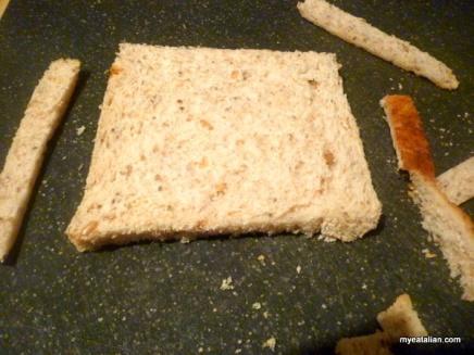 Trim the crust