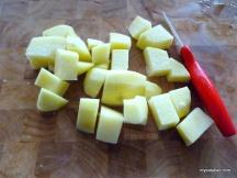 dice the potato